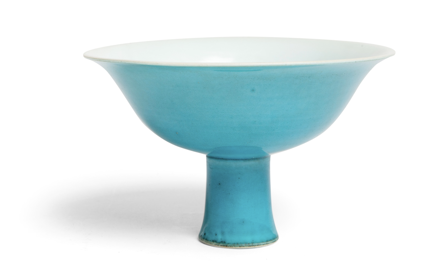 TURQUOISE-GLAZED 'DRAGON' STEM BOWL YONGLE MARK BUT POSSIBLY QIANLONG PERIOD