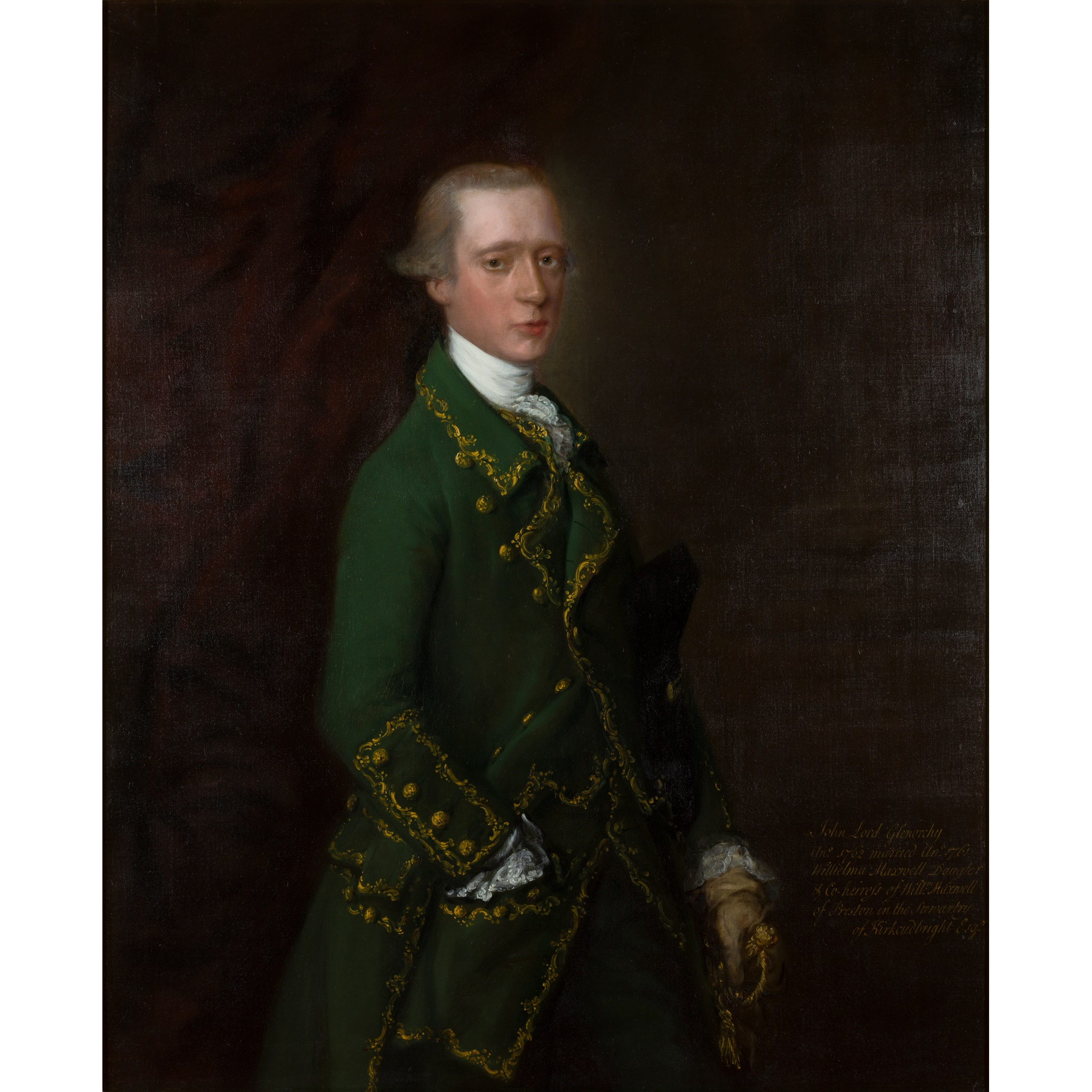 THOMAS GAINSBOROUGH R.A. (BRITISH 1717-1788) HALF-LENGTH PORTRAIT OF JOHN CAMPBELL, VISCOUNT GLENORCHY (1738-1771) - 1762-63