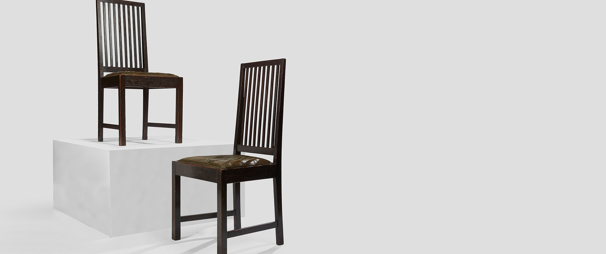 Charles Rennie Mackintosh's 'Brander Back' Dining Chairs