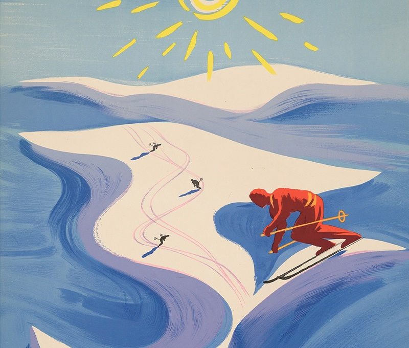 Vintage Ski Poster Auction - Ski Lovers Get Their 'Hit'
