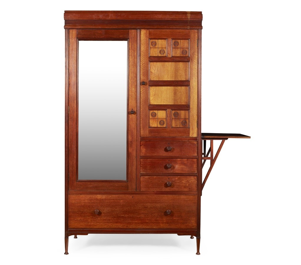 AESTHETIC MOVEMENT WALNUT WARDROBE