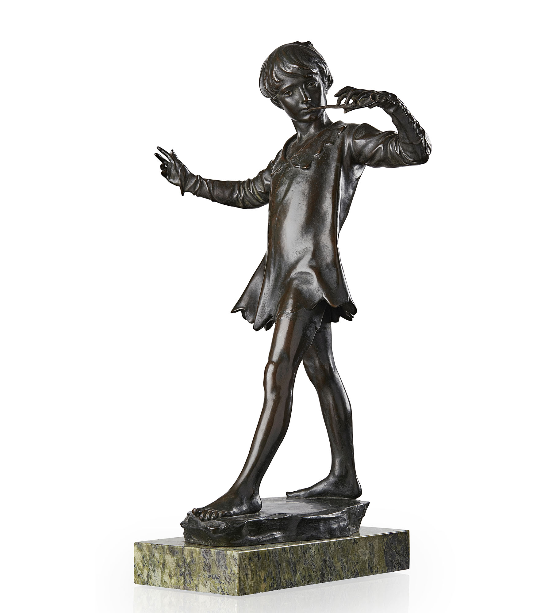 SIR GEORGE JAMES FRAMPTON (1860-1928) | 'PETER PAN', DATED 1911 | Sold for £35,000*