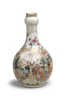 Lot 384 - A Qianlong famille rose bottle vase, circa 1780
