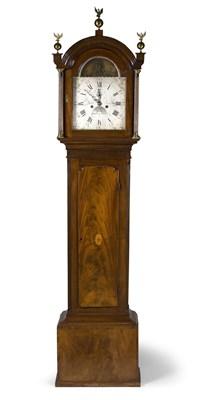 Lot 473 - A George III mahognay longcase clock, William...