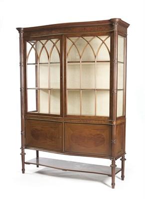 Lot 499 - A good Edwardian mahogany and inlaid...