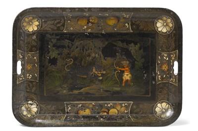 Lot 594 - A rare Regency toleware tea tray, circa 1820...