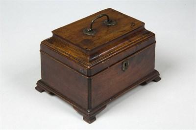 Lot 586 - A George III mahogany tea caddy, circa 1760...