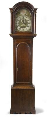 Lot 608 - A George III oak longcase clock, by George...