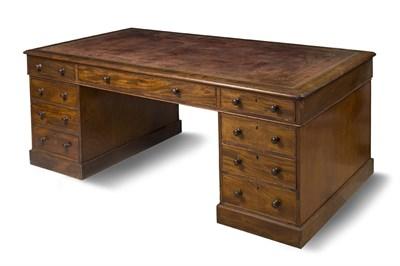 Lot 609 - A Victorian mahogany partners desk, circa 1840...