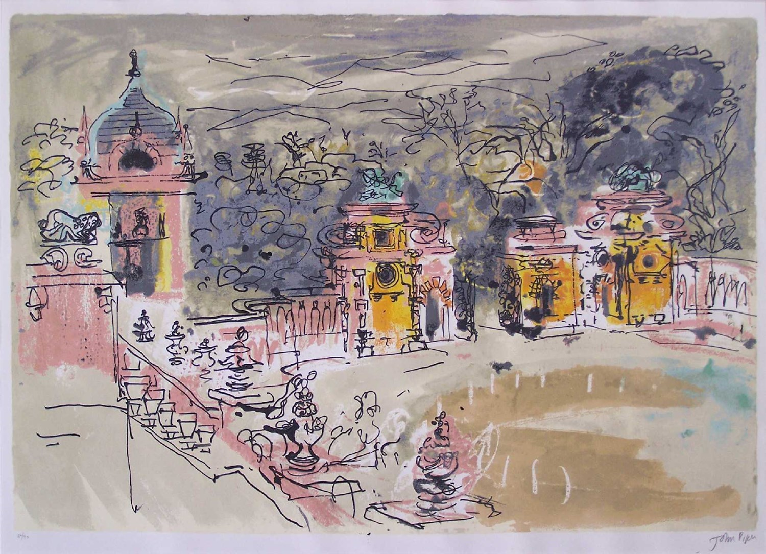 Lot 683 - JOHN PIPER C. H. (BRITISH 1903-1992)