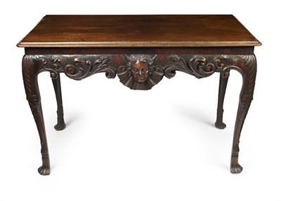 Lot 456-IRISH GEORGE II MAHOGANY SIDE TABLE
