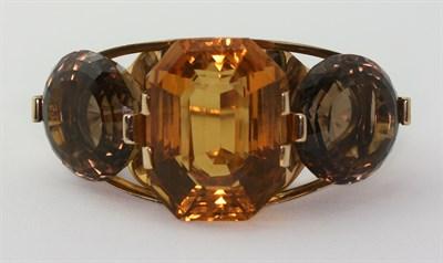 Lot 37 - A 1960's gem set bangle