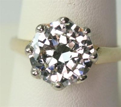 Lot 63 - A large diamond single-stone ring