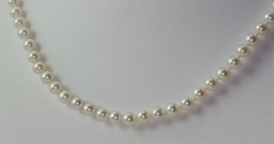 Lot 125 - A cultured pearl necklace