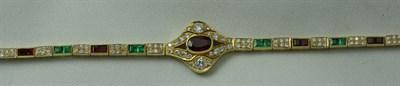 Lot 117 - A multi-gem set bracelet