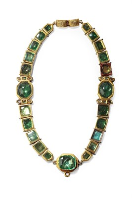 Lot 106 - An Indian antique pair of bracelets convertable to a necklace