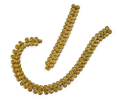 Lot 94 - ILIAS LALAOUNIS - an 18ct gold Minoan and Mycenaean style suite