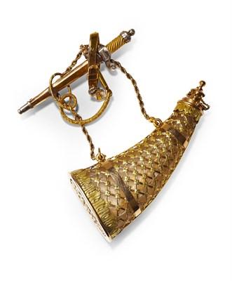 Lot 92 - An unusual gold brooch