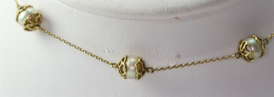Lot 129 - A modern cultured pearl set necklace