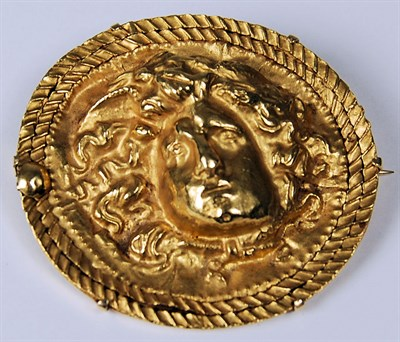Lot 85 - A Greek revival style shaped oval brooch
