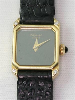 Lot 114 - CHOPARD - a lady's 18ct gold wrist watch