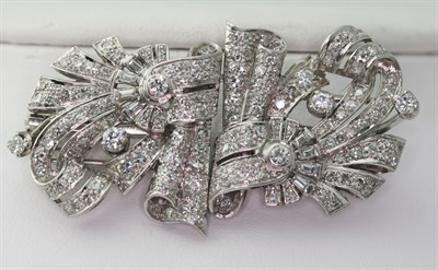 Lot 45 - An early 20th century pair of diamond set clips