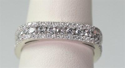 Lot 64 - A diamond set full-eternity ring