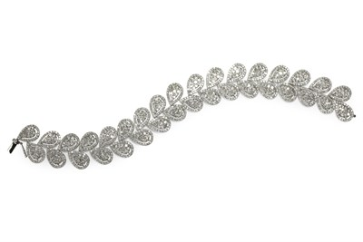 Lot 67 - A diamond set bracelet
