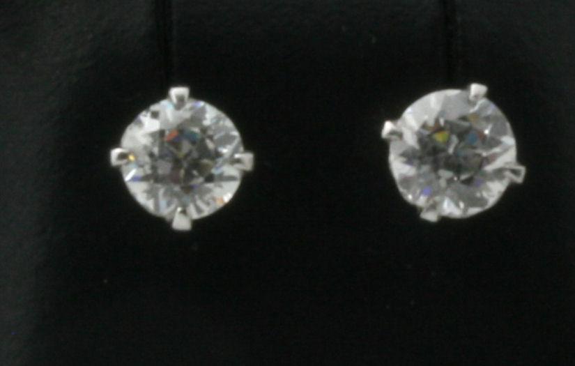 Lot 47 - A pair of diamond set earrings
