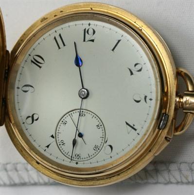 Lot 5 - An 18ct gold demi hunter pocket watch