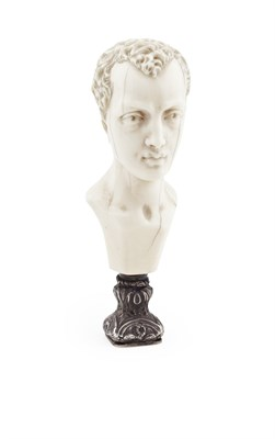 Lot 33 - A Continental figural carved ivory desk seal