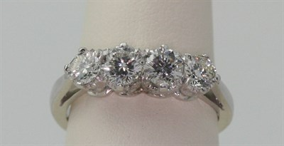 Lot 53 - A diamond set four-stone ring