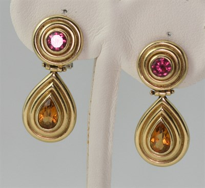 Lot 87 - Three pairs of assorted earrings