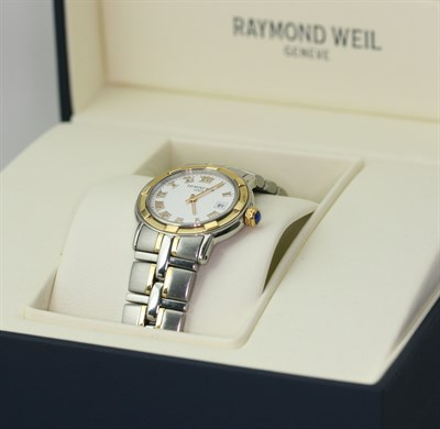 Lot 110 - RAYMOND WEIL - a lady's two-coloured Parsifal wrist watch