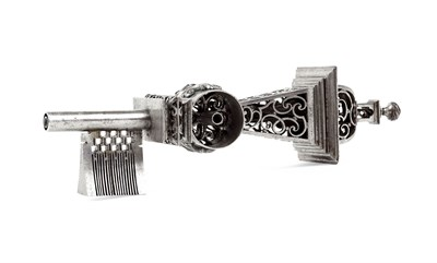 Lot 207 - FRENCH OR GERMAN STEEL MASTERLOCK AND KEY