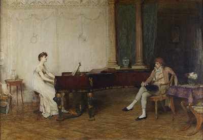 Lot 103 - SIR WILLIAM QUILLER ORCHARDSON R.A., H.R.S.A. (SCOTTISH 1832-1910)