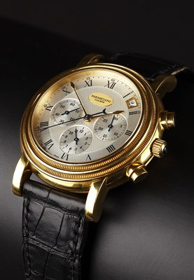Lot 146 - PARMIGIANI - A gentleman's 18ct gold chronograph