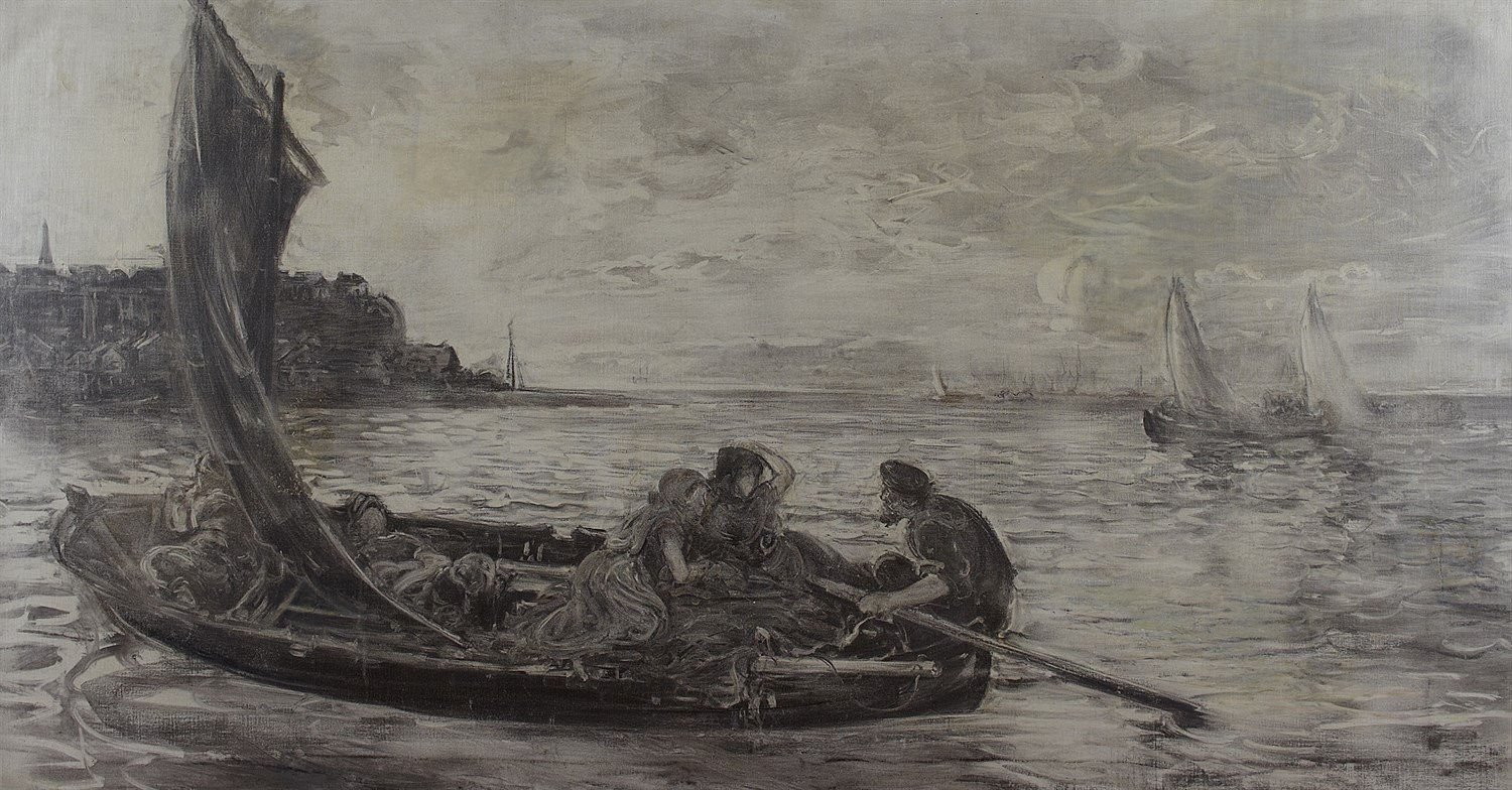 Lot 54 - WILLIAM MCTAGGART R.S.A., R.S.W (SCOTTISH 1835-1910)