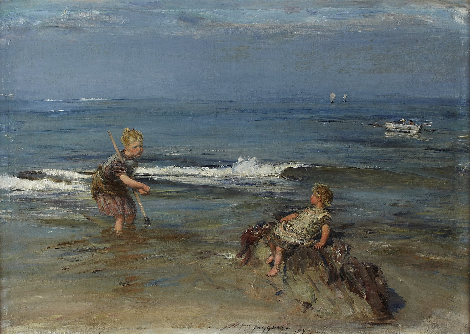 Lot 52 - WILLIAM MCTAGGART R.S.A., R.S.W (SCOTTISH 1835-1910)