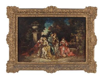 Lot 77 - ADOLPHE JOSEPH THOMAS MONTICELLI (FRENCH 1824-1886)