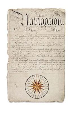 Lot 85 - 18th Century Naval Manuscript - Navigation