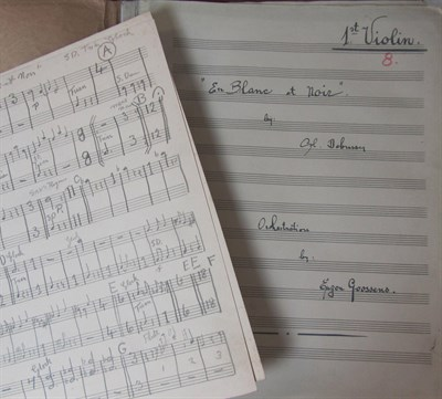 Lot 106 - Music - Debussy, Claude