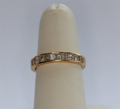 Lot 81 - A diamond set half-eternity ring