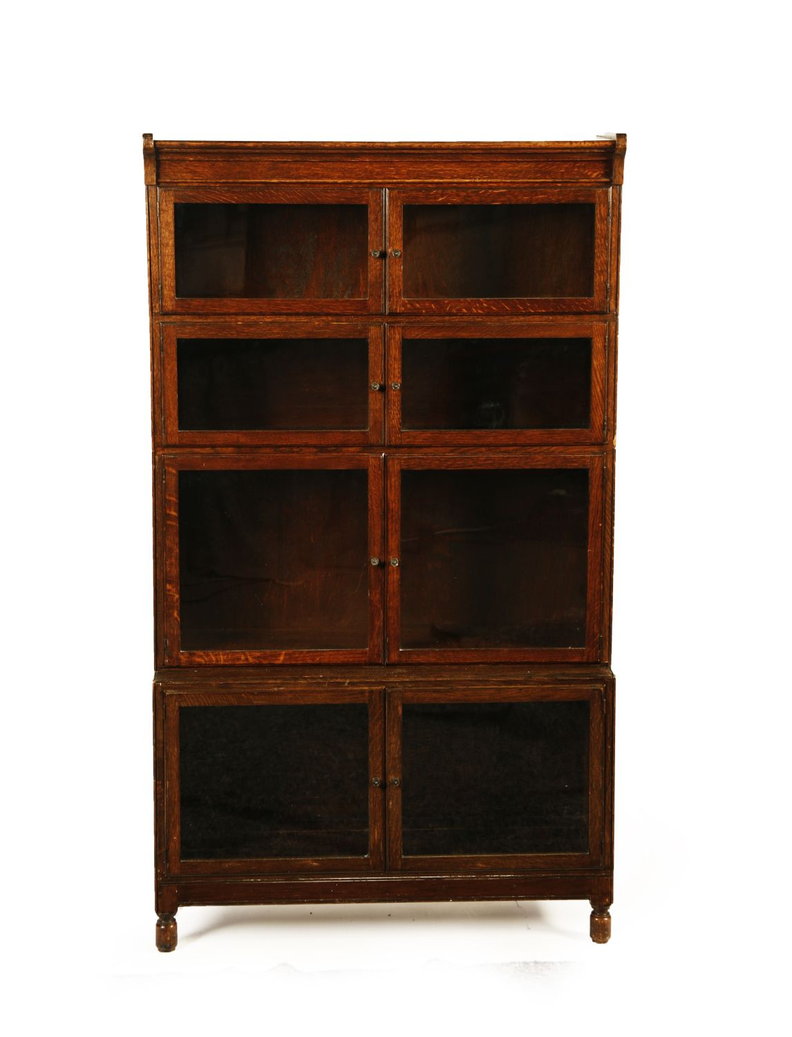 Lot 422 Oak Sectional Barrister Bookcase By Minty