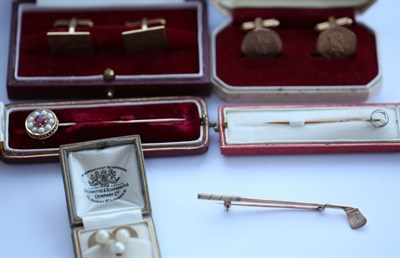 Lot 79 - A group of gentleman's jewellery to include