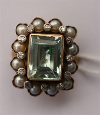 Lot 9 - A 19th century gem set dress ring