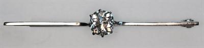 Lot 168 - An early 20th century diamond set bar brooch