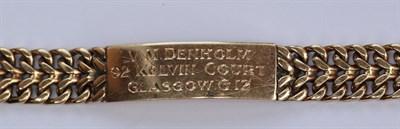 Lot 133 - Two 9ct gold identity bracelets