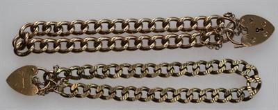 Lot 137 - Two 9ct gold bracelets