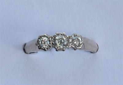 Lot 212 - A diamond three-stone ring